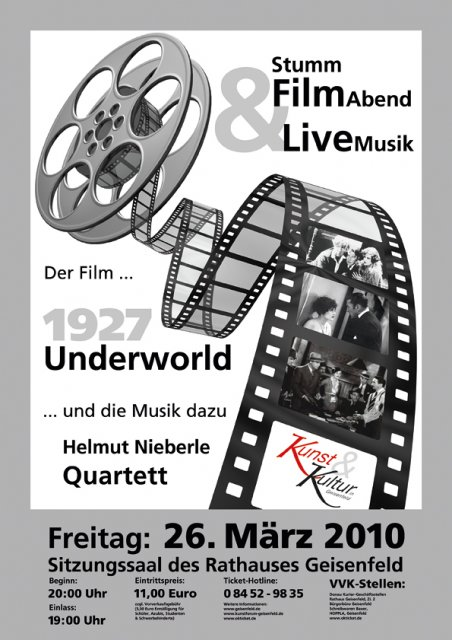 Grossansicht in neuem Fenster: Plakat Stummfilm underworld